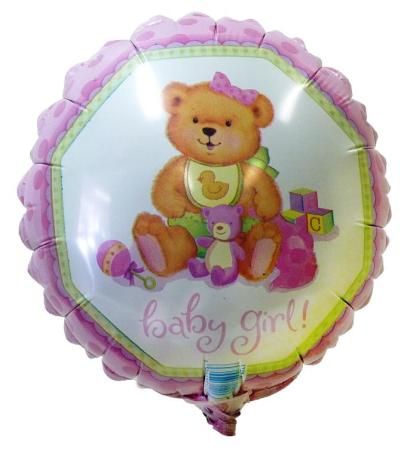 Baby Girl Balloon, 16cm