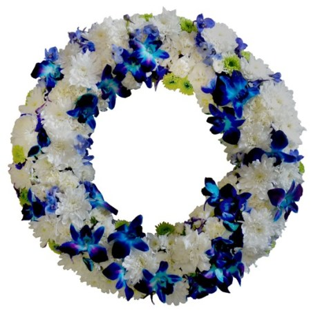 RSM124 Blue & White wreath