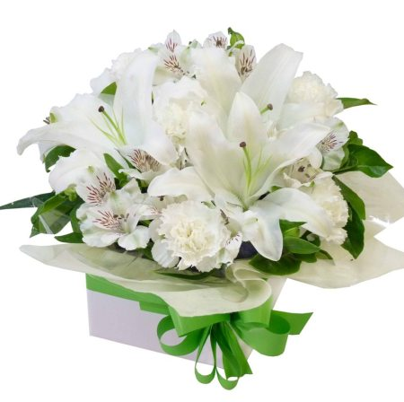 RBX189 White Lily Box