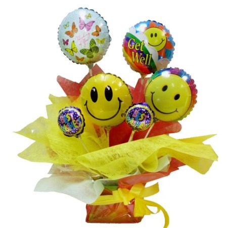 RBX154 Get-well Balloon arrangement in box