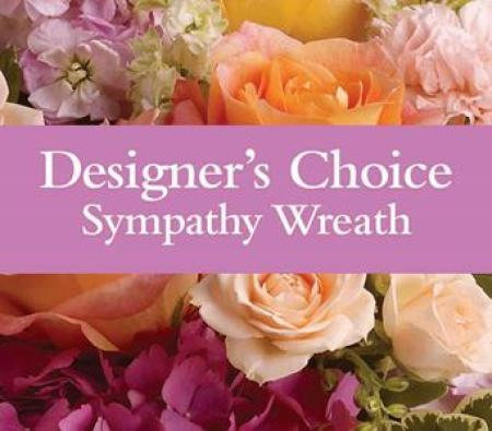 Designer`s choice - sympathy wreath, $130/150