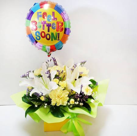 RBX360 Get-Well Soon Box with Balloon