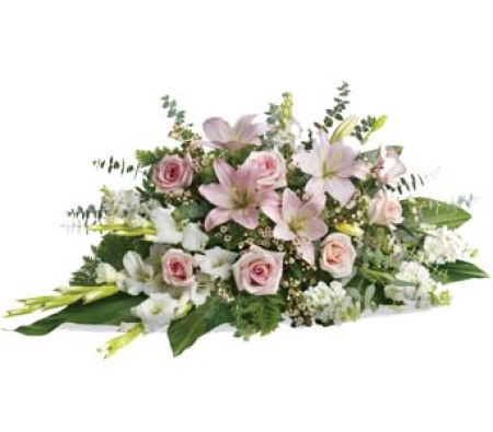 S32 Seasonal pink and white arrangement