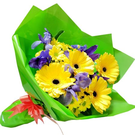 RBT251 Yellow and Blue Bouquet