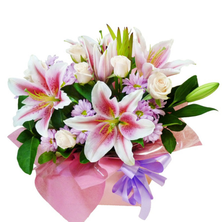 rbx178 Pink lily arrangement