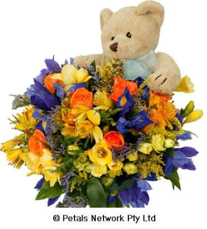 C2 - Beartastic (bouquet and bear)