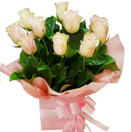 RBX117 10 Pink Roses in Box