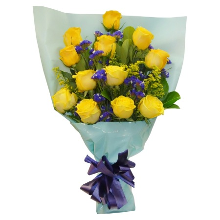 RBT218 Yellow Roses Bouquet