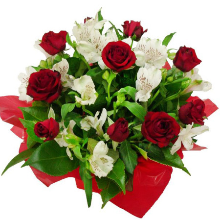 RBX122 Red Roses arrangement