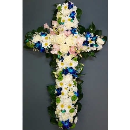 C1 - Cross with pink, blue and white