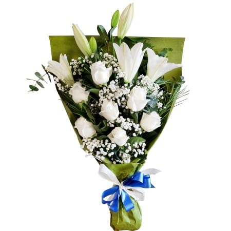 RBT304 White Roses Bouquet