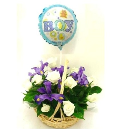 RBK109 Boy Basket with Balloon